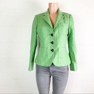 Vintage J.Crew blazer 100% wool green size 8